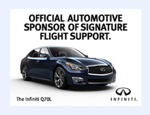 Official Automotive Sponsor of Signature Flight Support. INFINITI
